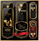 Elegant wine labels — Stock Vector