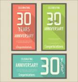 Anniversary label collection — Stockvector