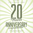 Anniversary label collection — Stock Vector #62777689