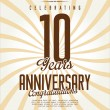 Anniversary label collection — Stock Vector #62777691