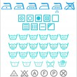 Set of blue Washing signs — Stock Vector #64914039