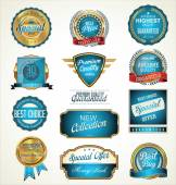 Premium quality labels collection — Stock Vector
