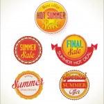 Set of  summer sales labels — Stock Vector #65668009
