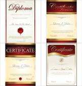 Certificate template collection — Stock Vector