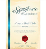 Blank Certificate template — Stock Vector