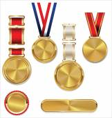 Set of Gold medals — Stock Vector