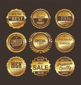 Premium-qualität-retro labels-auflistung — Stockvektor