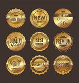 Retro etykiet wysokiej jakości — Wektor stockowy