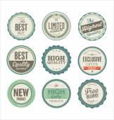 Vintage etiketleri koleksiyonu — Stok Vektör
