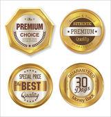 Gouden labels-collectie — Stockvector