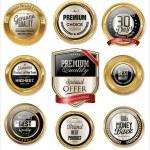 Premium quality golden labels — Stock Vector #68577725