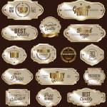 White gold framed labels — Stock Vector #70565843