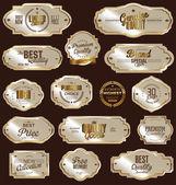 White gold framed labels — Stock Vector
