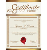 Vintage Certificate template — Stock Vector