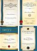 Set of Certificate templates — Stock Vector