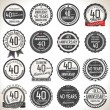 Anniversary label collection — Stock Vector #71097575
