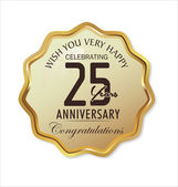 Anniversary label, 25 years — Stock Vector