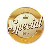 Special offer golden sign — Stock Vector