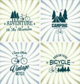 Bicycle vintage badges collection — Stock Vector