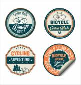 Bicycle retro badges collection — Stock Vector