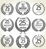 Anniversary labels collection — Stock Vector