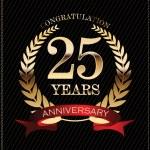 Anniversary golden laurel 25 years — Stock Vector #73465283