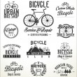 Bicycle badges and labels — Stock Vector #73493743