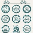 Bicycle badges and labels collection — Stock Vector #73595579