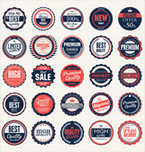 Premium, quality labels collection — Stock Vector