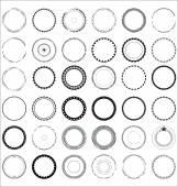 Set of decorative patterns — Stock Vector