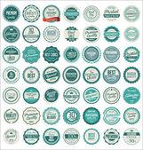 Premium quality retro badges — Stock Vector