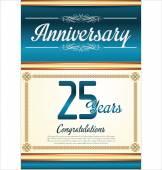 Anniversary background 25 years — Stock Vector