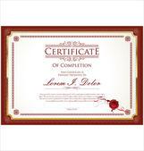 Zertifikat, Diplom Abschluss — Stockvektor