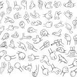Cartoon Hands Pack Lineart 1 — Stock Vector #75291367