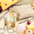 Tools for sewing and crafts equipment — Stock Photo #73496541