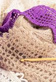 Tools for crochet. — Stock Photo