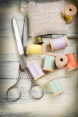 Tools for sewing and crafts equipment — Stock Photo