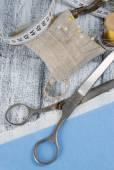 Still life photo with tools for handmade. — Stock Photo