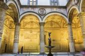 Courtyard in Palazzo Vecchio in Florence, Italy — Stock Photo