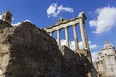 Tempel av Saturnus i Rom, Italien — Stockfoto