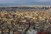 View on Old Town and Centro Direzionale in Naples, Italy — Stock Photo