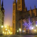 Marktkirche in Wiesbaden at dusk — Stock Photo #77986070