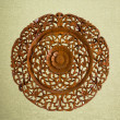 Pattern of flower carved on wood vintage background  — Stock Photo #52281979