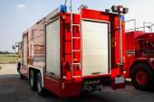 Truck firefighter automobiles — Stock Photo