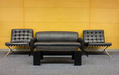 The sofa which is put in modern buildin — Foto de Stock