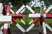 Traffic barb barrier — Stock Photo