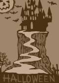 Vintage Halloween Castillo — Foto de Stock