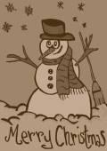 Snowman vintage — Stok fotoğraf