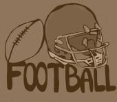 Vintage football tools — Stock Photo