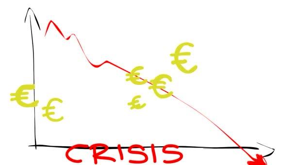 Crisis de la economía — Vídeo de stock